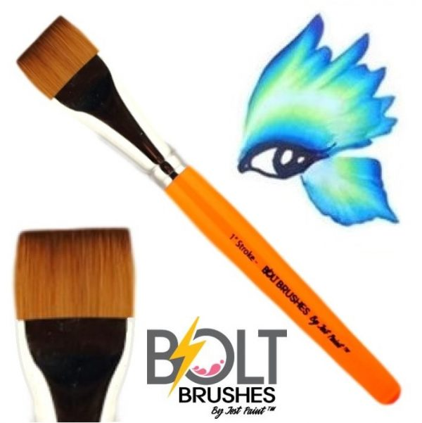 Bolt Brushes by Jest Paint One-stroke Flat brush 1 inch