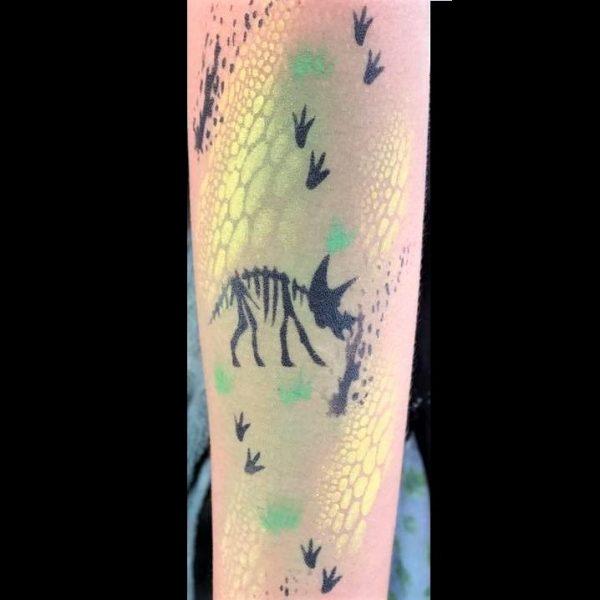 Diva Face Painting Stencil - Dinosaur Skeleton