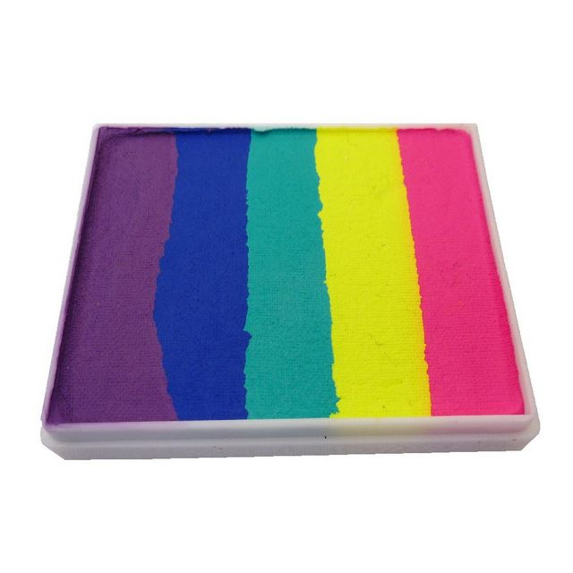 Face Paint World split-cake face paint - Bright Rainbow 50g