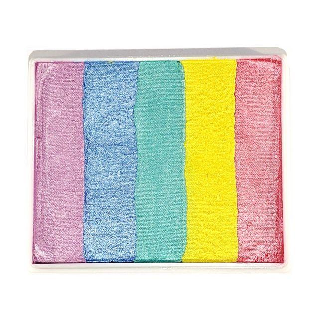 Face Paint World split-cake face paint - Pastel Pearl Rainbow 50g
