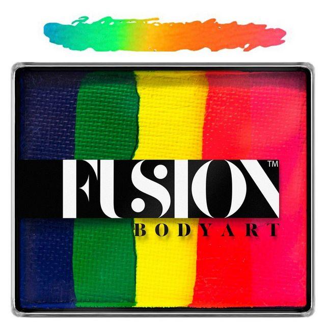 Fusion split-cake face paint - Neon Rainbow 50g