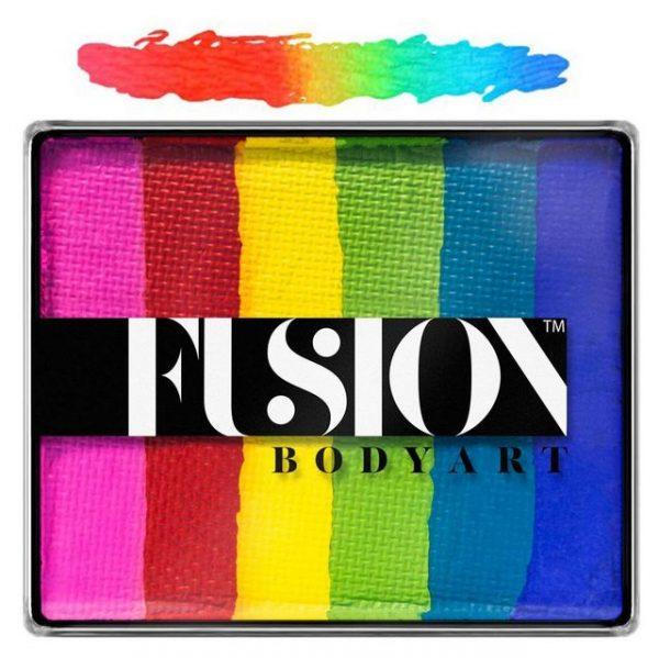 Fusion split-cake face paint - Bright Rainbow 50g