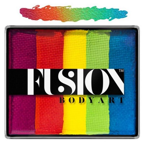 Fusion split-cake face paint - Rainbow Joy 50g