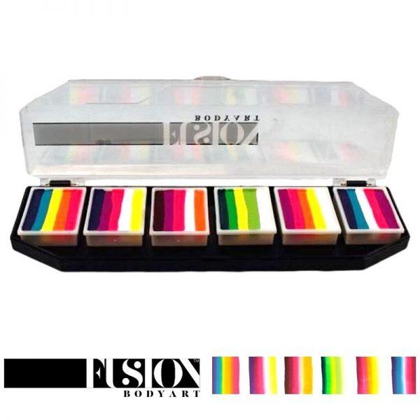 Fusion One-Stroke Palette (6x 1 inch split-cakes) - Leanne's Butterfly