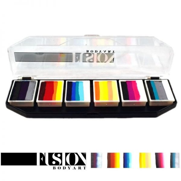 Fusion One-Stroke Palette (6x 1 inch split-cakes) - Hero Power
