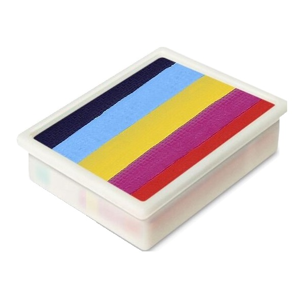 Global Colours 1 inch one-stroke face paint - Leanne's Rainbow 10g