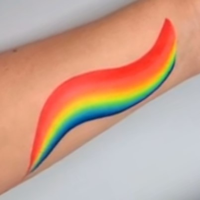 Global Colours 1 inch one-stroke face paint - Leanne's Neon Rainbow 10g
