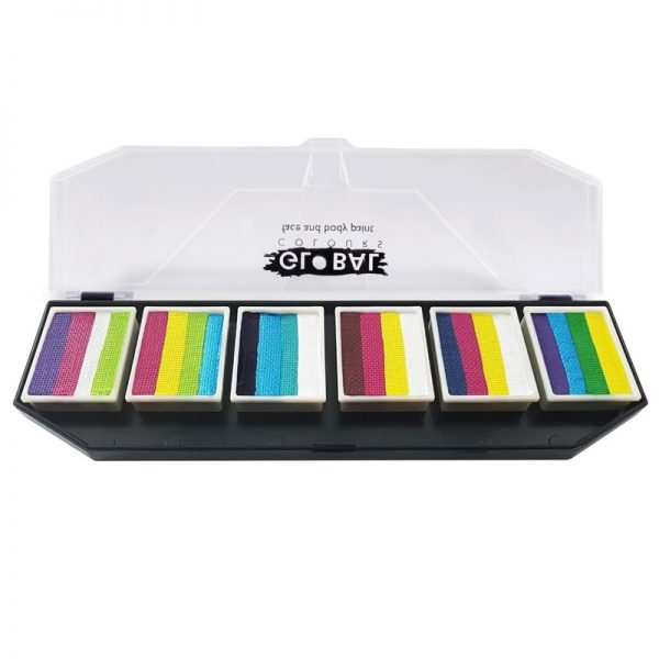 Global One-Stroke Palette (6x 1 inch split-cakes) - Colour Punch