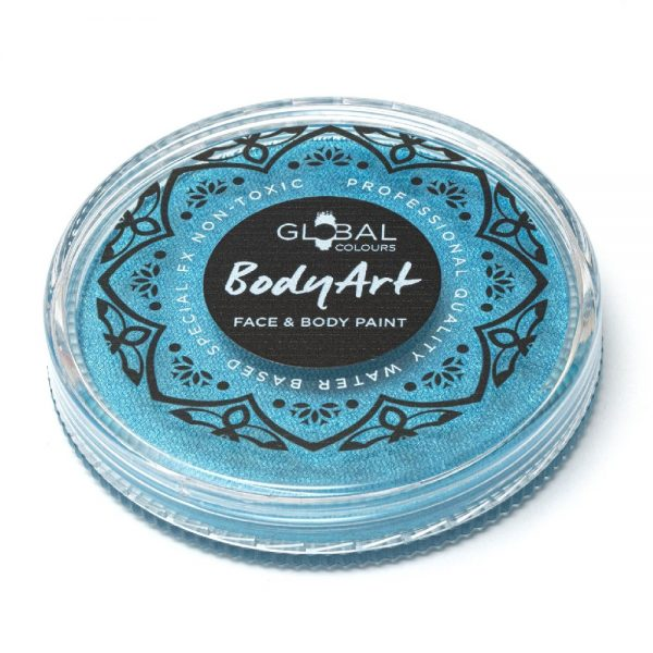Global Colours face paint - Pearl Peacock Blue 32g
