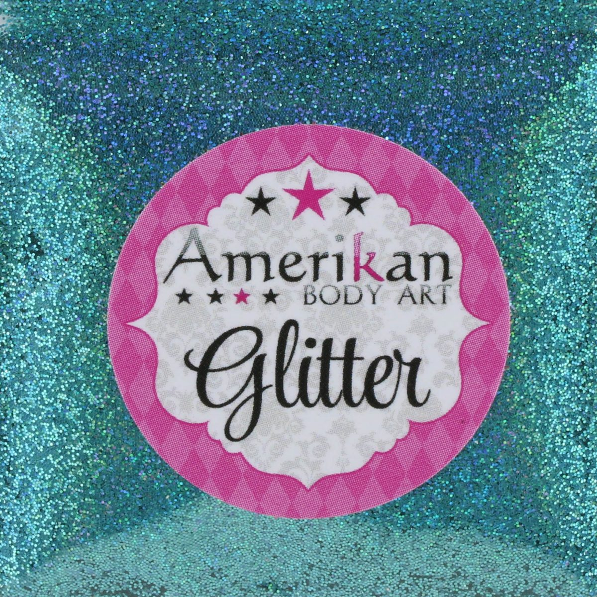 ABA Fine Cosmetic Glitter 15ml Puffer Bottle – Holographic Turquoise
