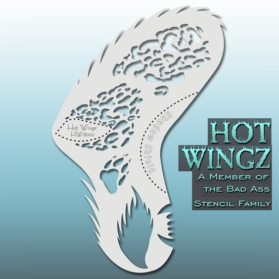 Bad Ass Hot Wingz Face Painting Stencil HW8002 Wild