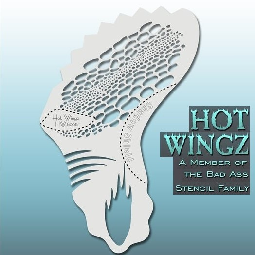 Bad Ass Hot Wingz Face Painting Stencil HW8008 Exotic