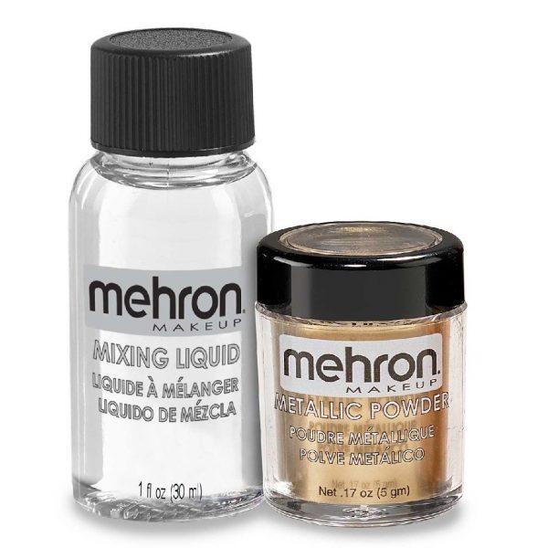 Mehron Metallic Powder with Mixing Liquid - Gold