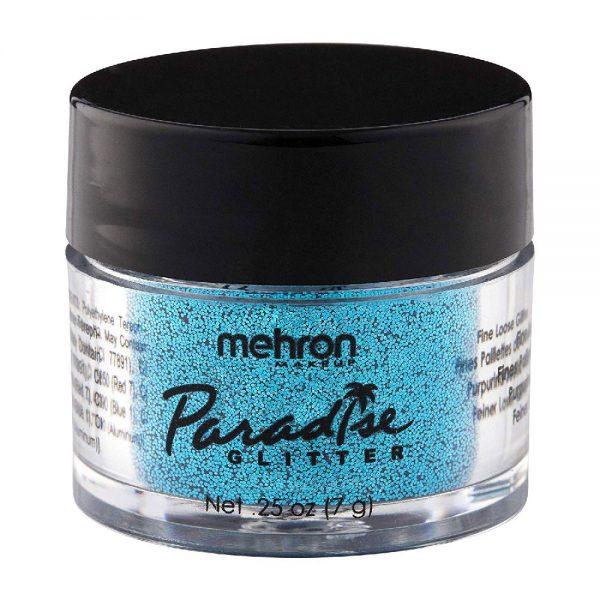 Mehron Paradise Fine Cosmetic Glitter 15ml Jar - Blue