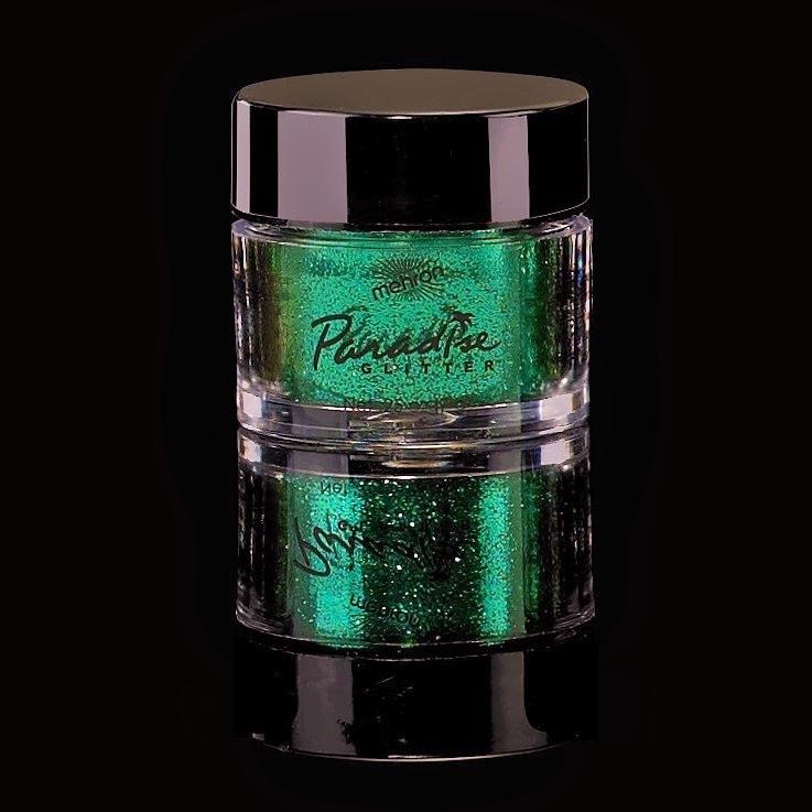 Mehron Paradise Fine Cosmetic Glitter 15ml Jar - Green