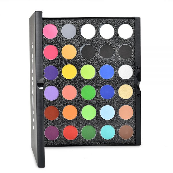 Mehron Paradise Makeup AQ face and body paint - 30 Colour set in Pro-case - Regular and Metallic