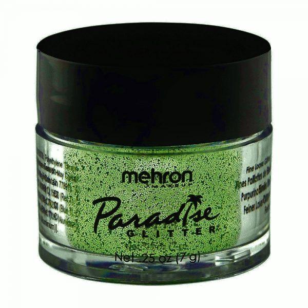 Mehron Paradise Fine Cosmetic Glitter 15ml Jar - Pastel Green