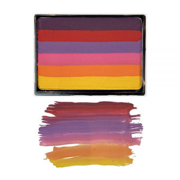 Mehron Paradise Prisma split-cake face paint - Sunset 50g
