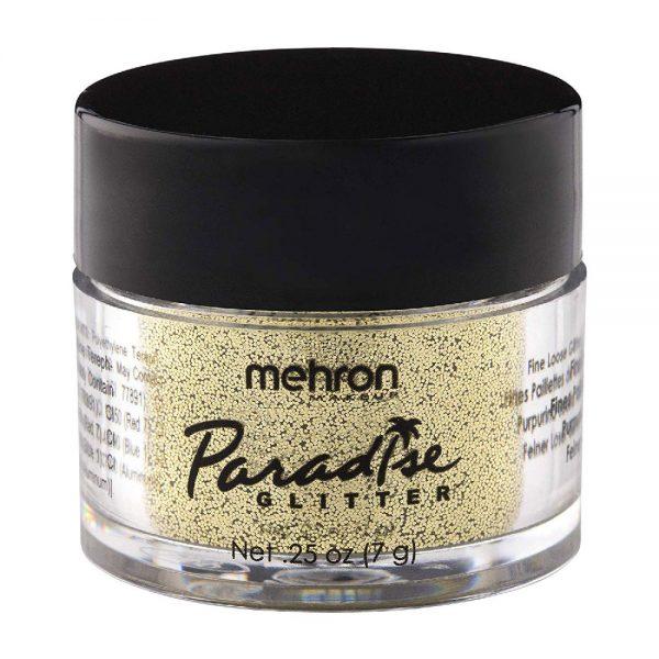 Mehron Paradise Fine Cosmetic Glitter 15ml Jar - Gold