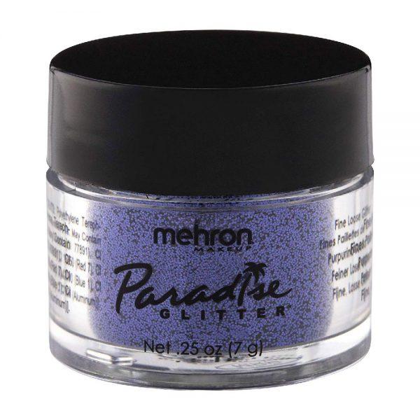 Mehron Paradise Fine Cosmetic Glitter 15ml Jar - Purple