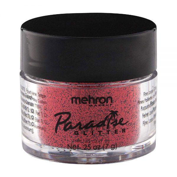 Mehron Paradise Fine Cosmetic Glitter 15ml Jar - Red