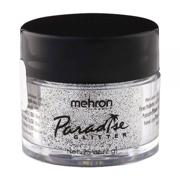 Mehron Paradise Fine Cosmetic Glitter 15ml Jar - Silver