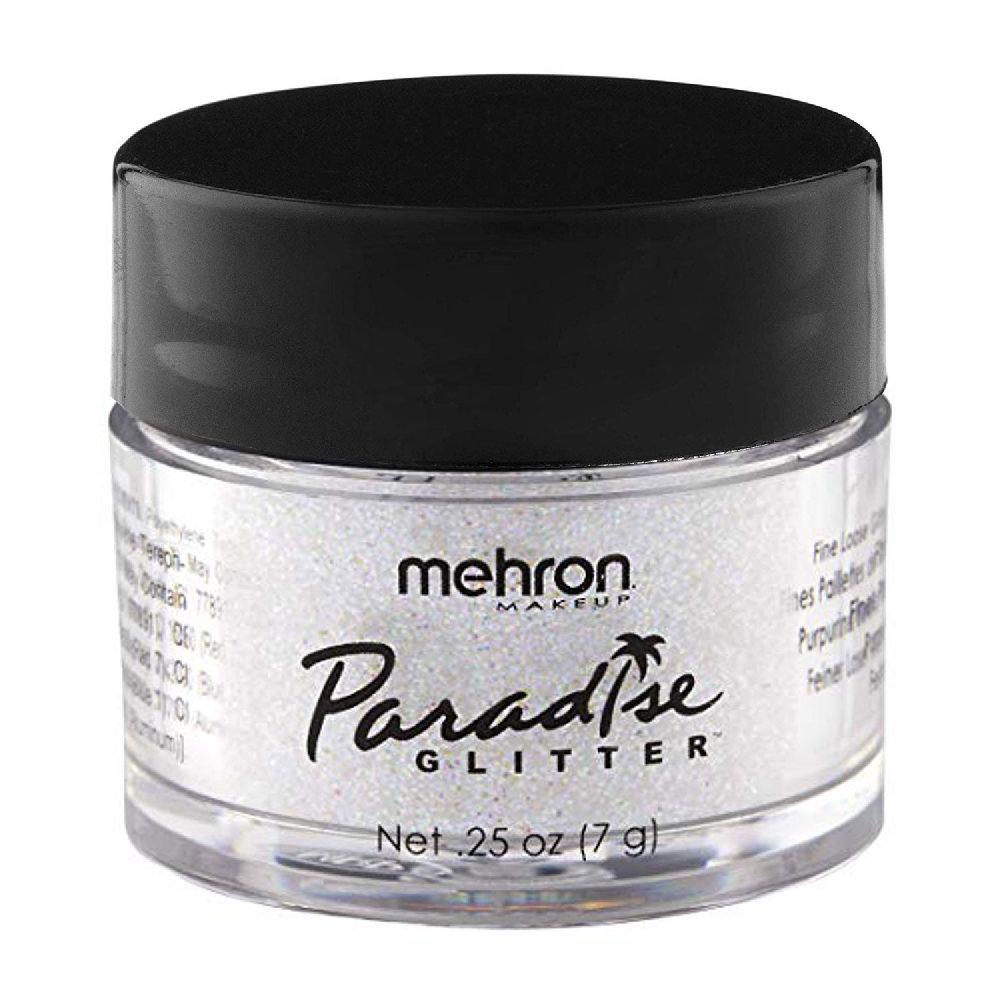 Mehron Paradise Fine Cosmetic Glitter 15ml Jar - White
