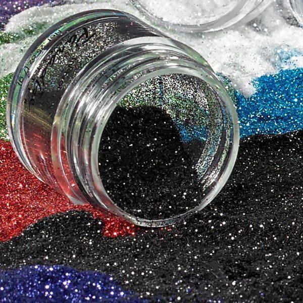 Mehron Paradise Fine Cosmetic Glitter 15ml Jar - Black