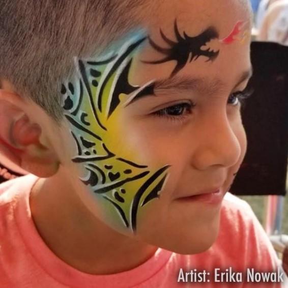 ShowOffs Body Art StencilEyes Face Painting Stencil - Norbert Dragon
