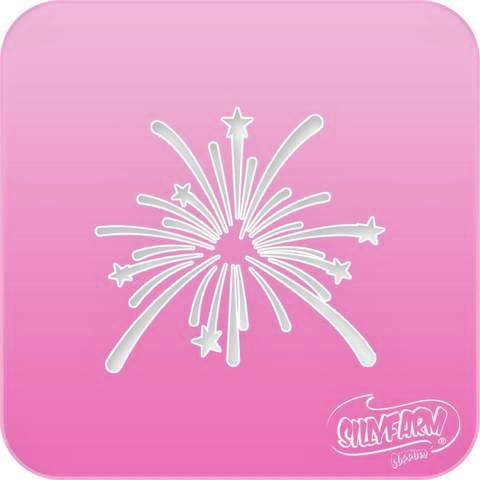 Pink Power Face Painting Stencil - Fireworks