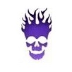 Pink Power Face Painting Stencil - Flaming Skull