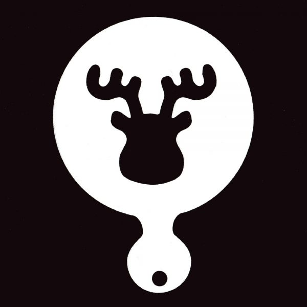 Face Painting Stencil - Reindeer head