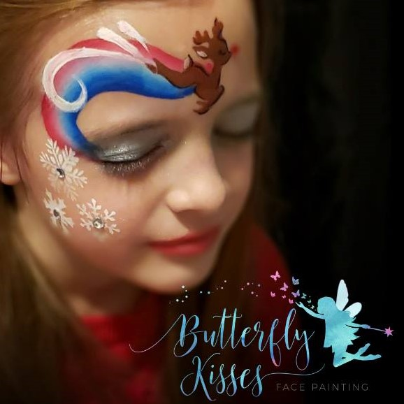 Diva Face Painting Stencil - Cute Rudolf