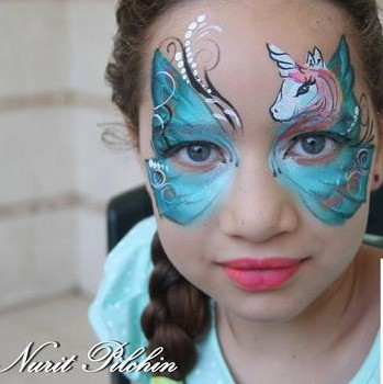 Silly Farm 1 inch one-stroke face paint - Aussie Mermaid Arty Brush Cake 28g