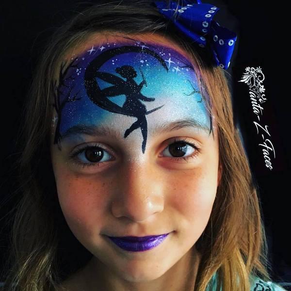 Silly Farm split-cake face paint - Mermaid Pixie Rainbow Cake 50g