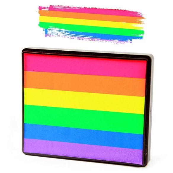 Silly Farm split-cake face paint - Neon Rainbow 50g