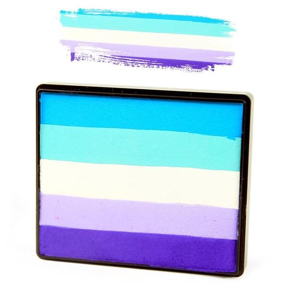 Silly Farm split-cake face paint - Twilight Pixie Rainbow Cake 50g