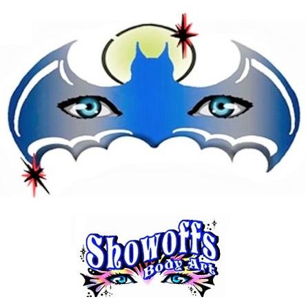 ShowOffs Body Art StencilEyes Face Painting Stencil - Night Bat