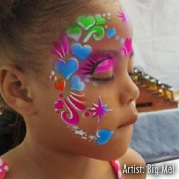 ShowOffs Body Art StencilEyes Face Painting Stencil - Sweet Heart