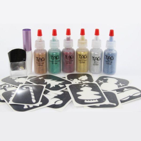 TAG Christmas Glitter Tattoo Kit