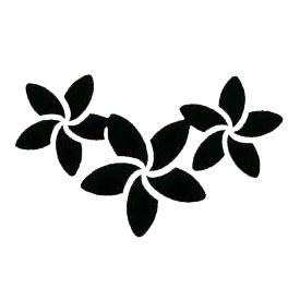 Glitter Tattoo Stencil - Frangipani