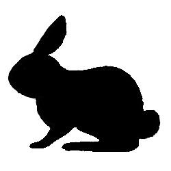 Glitter Tattoo Stencil - Bunny Rabbit #2