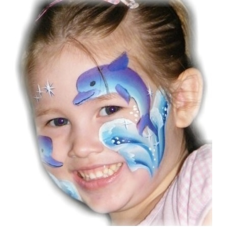 TAG 1 inch one-stroke face paint - Dolphin 30g