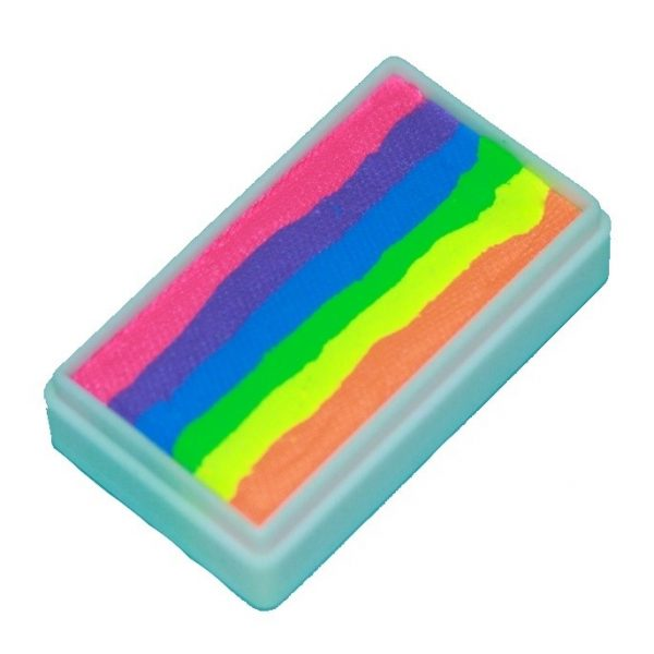 TAG 1 inch one-stroke face paint - Neon Rainbow 30g