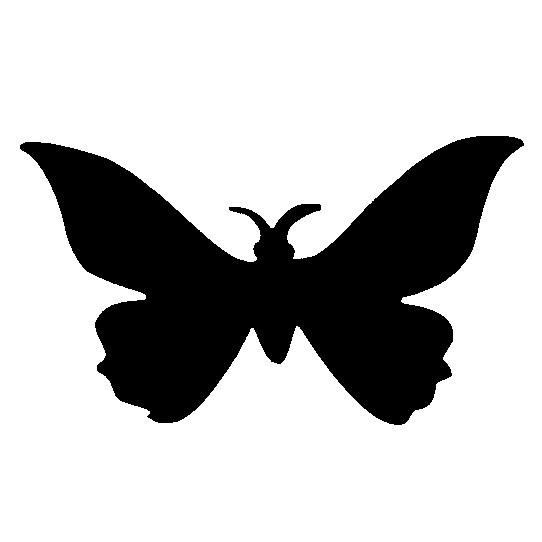 Glitter Tattoo Stencil - Butterfly