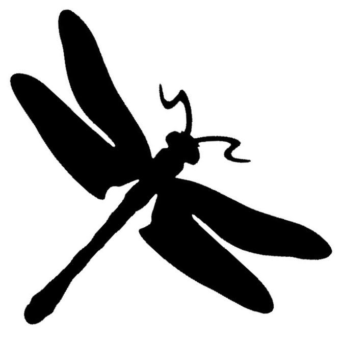 Glitter Tattoo Stencil - Dragonfly