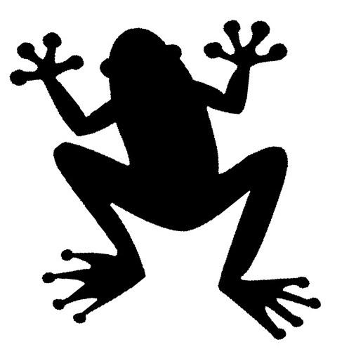 Glitter Tattoo Stencil - Frog