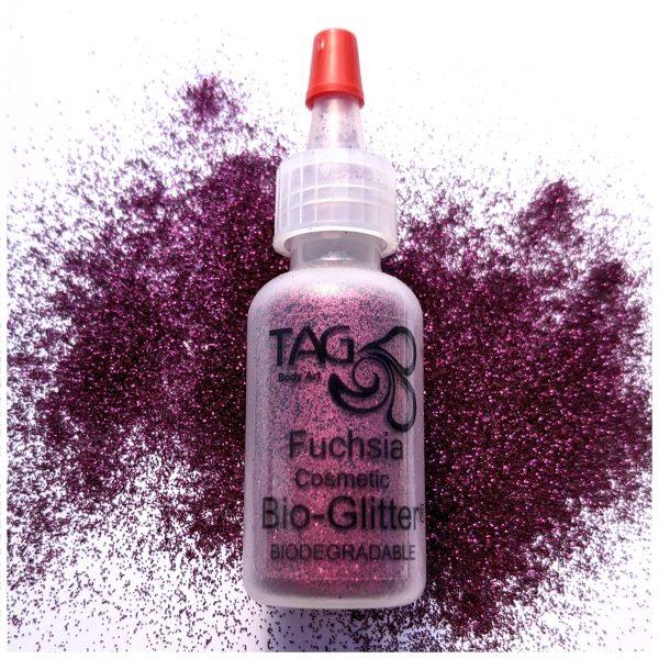 TAG Fine Cosmetic BIO-Glitter 15ml Puffer Bottle – Fuchsia