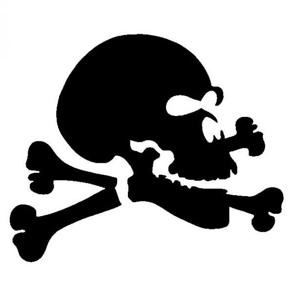 Glitter Tattoo Stencil - Jolly Roger Skull