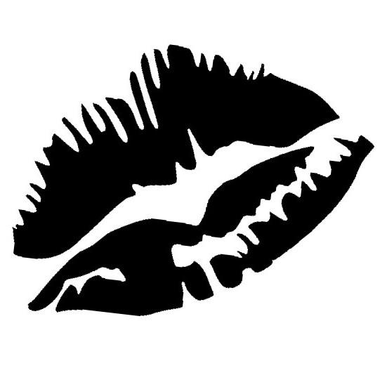 Glitter Tattoo Stencil - Lips